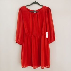 NWT Red Long-Sleeved Dress from Charming Charlie
